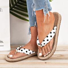 Women's Cloth Flat Heel Flip-Flops Slippers shoes