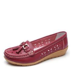 Femmes Similicuir Talon bas Chaussures plates Bout fermé avec Boucle Ouvertes chaussures