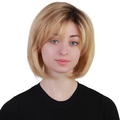 Kinky Rovný Mix pravých vlasů Paruky z pravých vlasů 120g