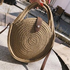 Solid Color Cotton Crossbody Bags/Shoulder Bags/Beach Bags