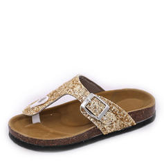 Women's Sparkling Glitter Flat Heel Sandals Flats With Sequin shoes