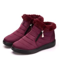 Femmes Tissu Talon plat Chaussures plates Bottes chaussures