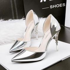 Kvinnor PU Stilettklack Pumps med Smycken Heel skor