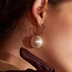 Simple Alloy Imitation Pearls Women's Earrings