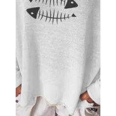 Print V-Neck Sweaters