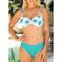 Dot Low Waist Strap Beautiful Attractive Bikinis Swimsuits