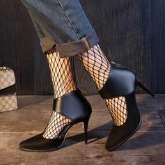 Donna PU Tacco a spillo Stiletto con Cerniera scarpe