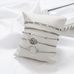 Elegante Liga Conjuntos de jóias Pulseiras (Conjunto de 5)