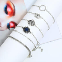 Flower Shaped Alloy Women's Bracelets (Set of 6)
