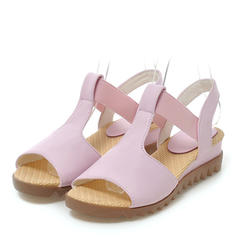 Women's Leatherette Wedge Heel Sandals Wedges Peep Toe Slingbacks With Others shoes