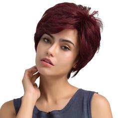 Derecho Mezcla de cabello humano Pelucas del pelo humano