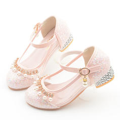 Girl's Leatherette Round Toe Closed Toe Flower Girl Shoes