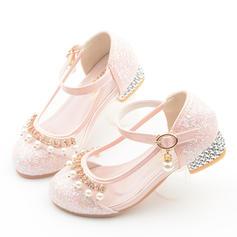 Girl's imitatieleer Ronde neus Closed Toe Bloemenmeisje schoenen