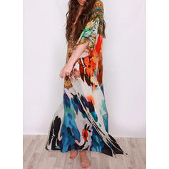 Floral V-neck Bohemian Cover-ups Swimsuits