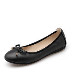 Kvinnor PU Flat Heel Platta Skor / Fritidsskor Stängt Toe med Bowknot skor