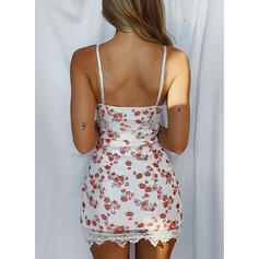 Lace/Print/Floral Sleeveless Bodycon Above Knee Sexy/Casual/Vacation Dresses