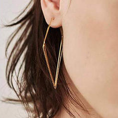 Simple Alloy Women's Earrings