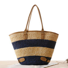 Fashionable Polyester/Straw Tote Bags/Beach Bags