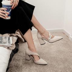 Femmes Suède Talon bottier Sandales avec Boucle chaussures