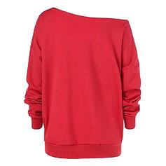 Dyreprint One Shoulder Langermer Jerseykjorte