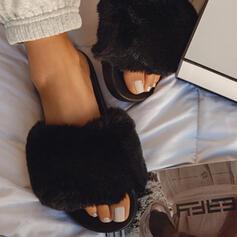 Femmes Similicuir Talon plat Sandales Chaussures plates Escarpins Chaussons chaussures