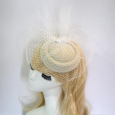 Ladies' Elegant/Charming Net Yarn With Rhinestone Fascinators