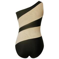 Farverig One-Shoulder Sexet Badedragter Badedragter