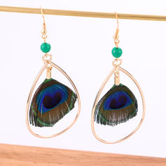 Beautiful Alloy Feather With Feather Women's Fashion Earrings