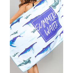 Estilo rústico Boho toalla de playa