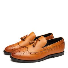 Brogue Tassel Loafer Casual Leatherette Men's Men's Loafers