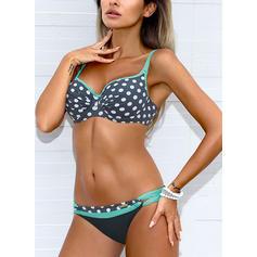 À pois Col V À La Mode Grande taille Bikinis Maillots De Bain