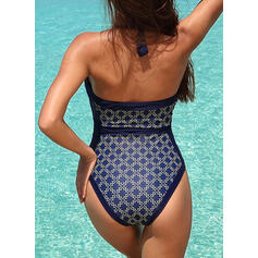 Dot Stripe Print Halter Beautiful Attractive Amazing One-piece Swimsuits