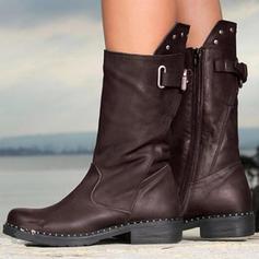 Διαμερίσματα Κλειστά παπούτσια Μπότες Μίνι μπότες Με Πόρπη Φερμουάρ παπούτσια