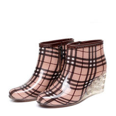 Women's PVC Wedge Heel Boots Ankle Boots Rain Boots With Others shoes
