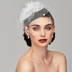Ladies' Glamourous/Simple/Handmade/Eye-catching Feather/Net Yarn With Feather/Tulle Fascinators