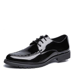 Men's Modern Flats Microfiber Leather With Lace-up Modern
