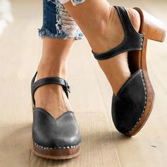 De mujer PVC Tacón ancho Salón con Hebilla zapatos