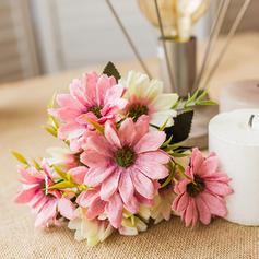 12'' Tournesols & Marguerites Soie Plastique Bouquets