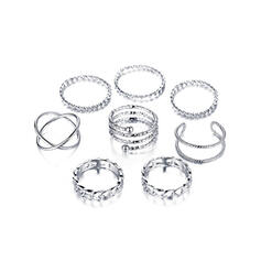 Stylish Alloy Jewelry Sets Rings (Set of 8)