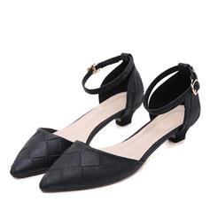 Femmes Similicuir Talon bas Escarpins Bout fermé avec Boucle chaussures