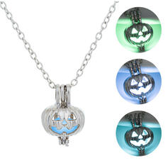 Luminous Halloween Pumpkin Alloy Necklaces