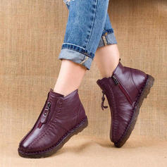 Women's PU Low Heel Snow Boots With Zipper shoes