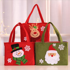 Merry Christmas Snowman Reindeer Santa Gift Bag Non-Woven Fabric Apple Bags