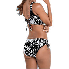 Splice color Strap Fashionable Bikinis Swimsuits