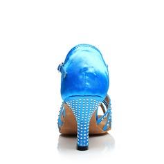 Жіночі Латинський Каблуки Атлас з Сіяючі камені Взуття для спортивно-бальних танців