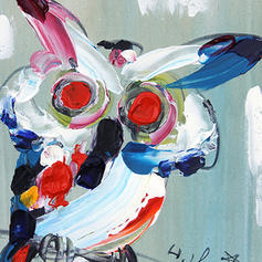 Estilo Moderno Rectángulo Pinturas de animales