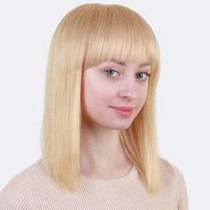 Derecho Mezcla de cabello humano Pelucas del pelo humano 140g