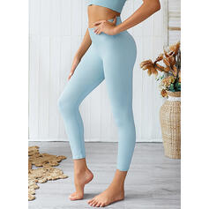 Solid Color Sports Leggings