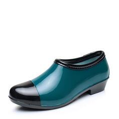 Naisten PVC Matala heel Kengät Nilkkurit Kumisaappaat jossa Split yhteinen kengät