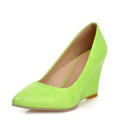 Frauen Lackleder Keil Absatz Keile mit Andere Schuhe